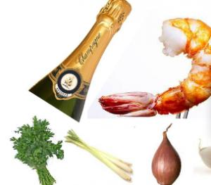 champagne prawns