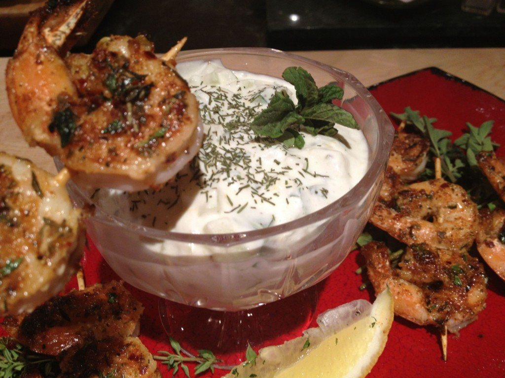 Spicy Shrimp Skewers With Cool Cucumber Dip | The Sumptuous Shrimp Recipe