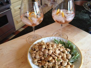 Fried Provençal Almonds with Rosemary