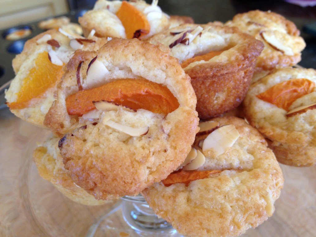 Apricot Almond Muffin Poppers