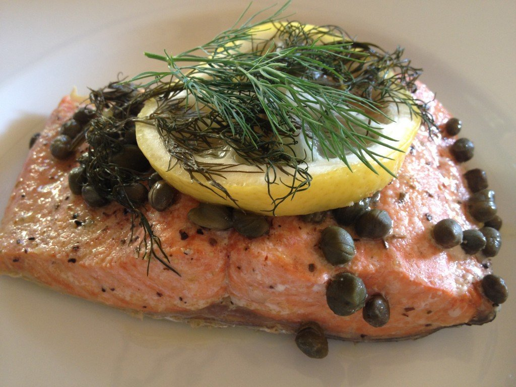 Lemon Caper Salmon Grilled in Foil