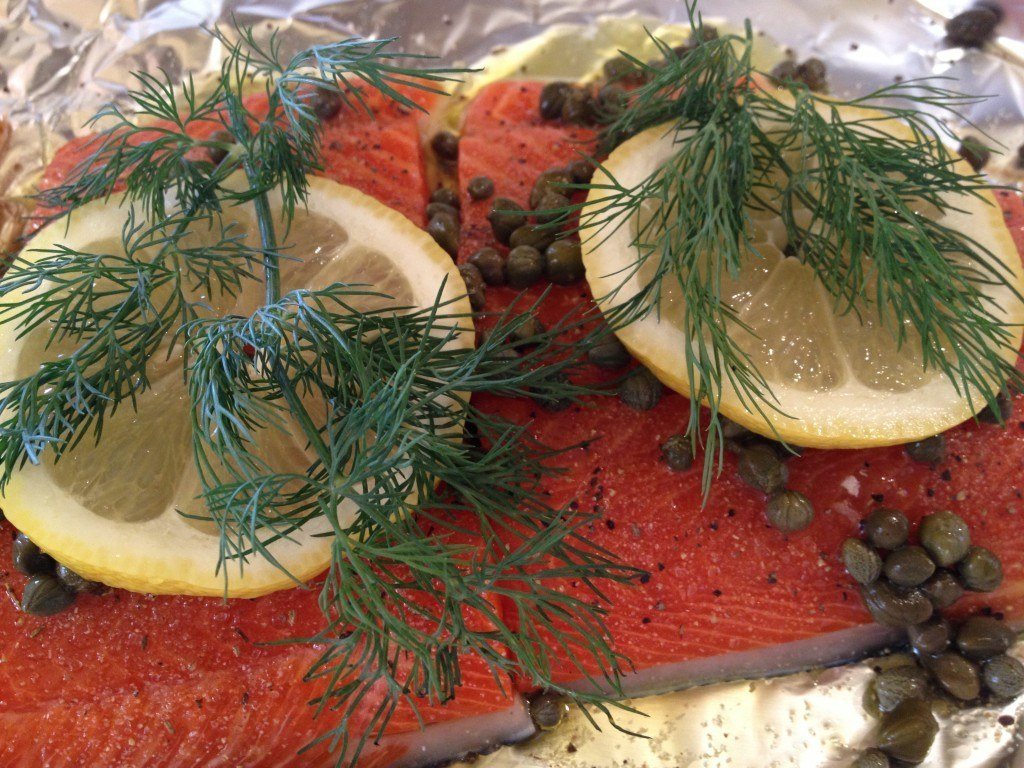 Caper Salmon Grilled In Foil | A Lemon Salmon Recipe
