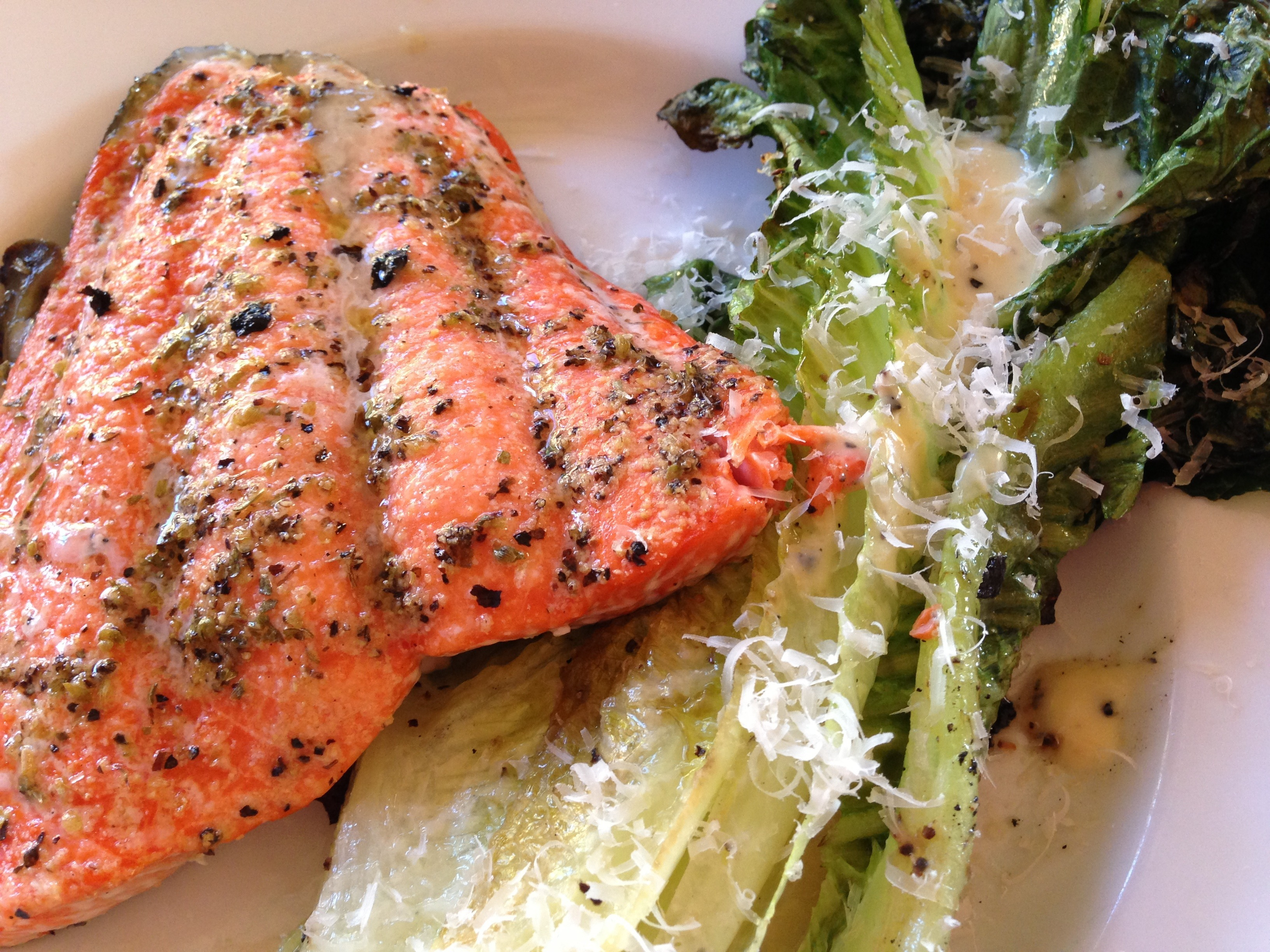 Grilled Romain And Salmon Salad Recipes The Brown Lounge