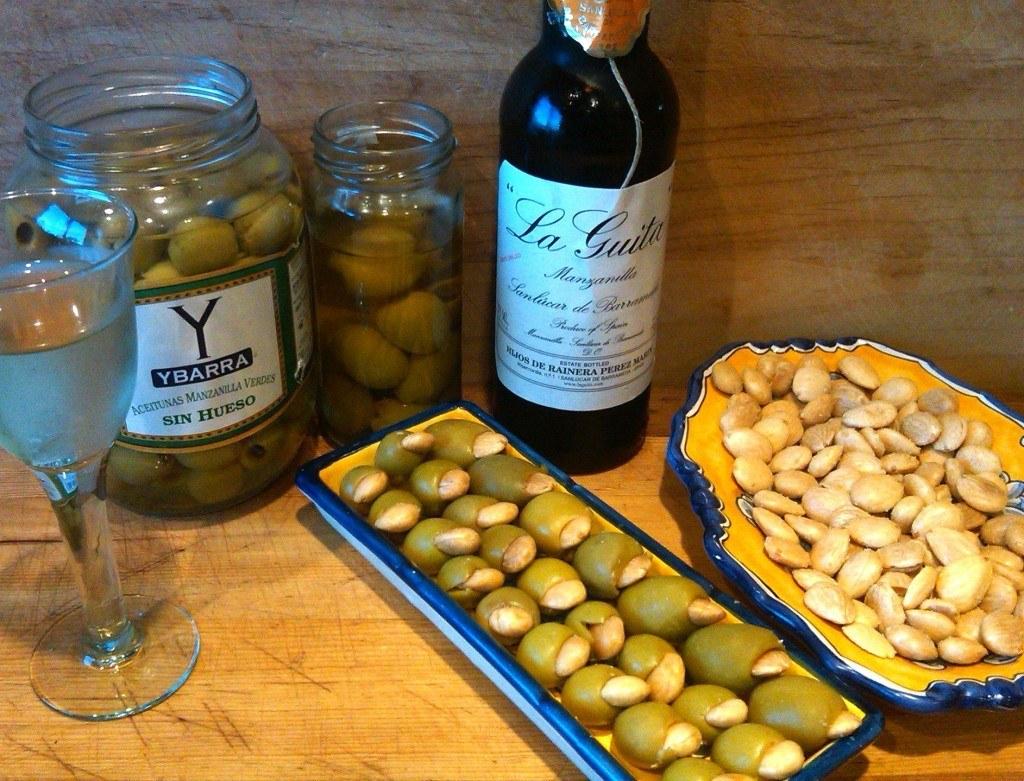 Manzanilla Olives Stuffed with Marcona Almonds