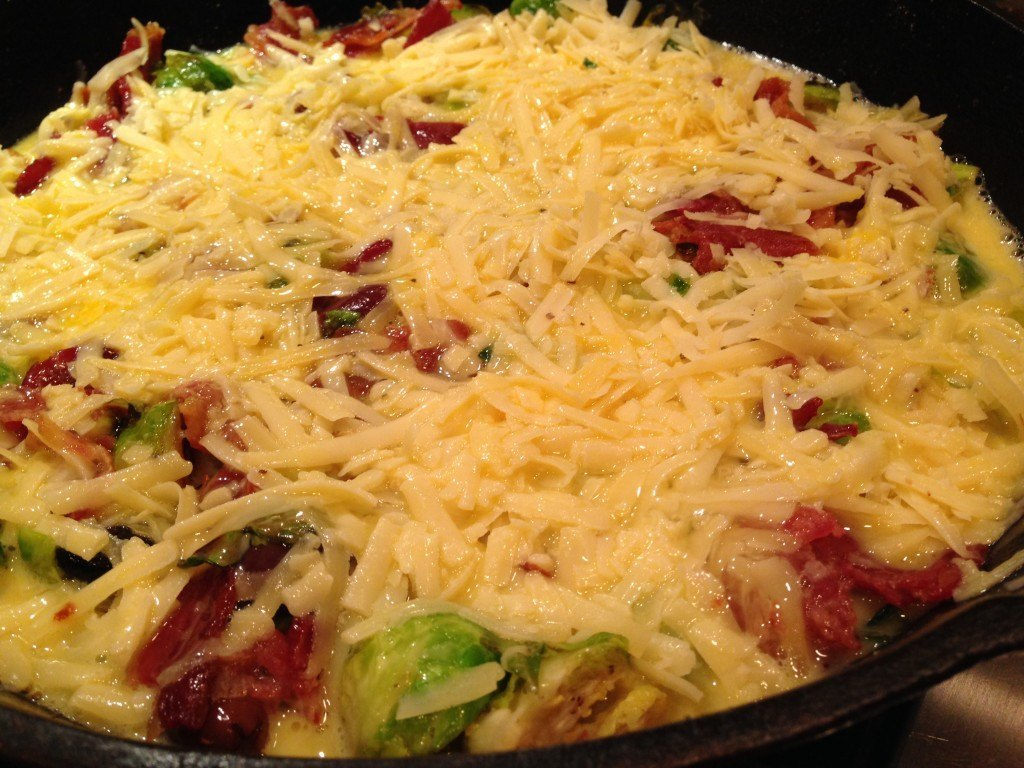 Brussels Sprout and Bacon Frittata