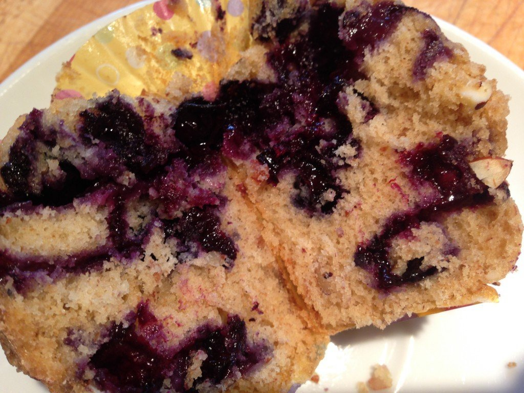 Blueberry Almond Muffins with Streusel Topping